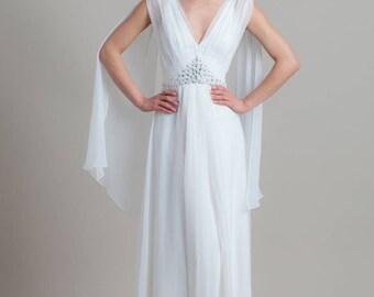 Romantic wedding dress, Simle wedding dress, Wedding gown, Couture gown, Greek wedding dress