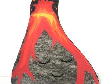 Volcano Cushion, Volcano, Volcanoface, Geology Lovers, Earth Decor, Volcano Pillow, Kids Decor, Lava You, Hawaii Volcanoes