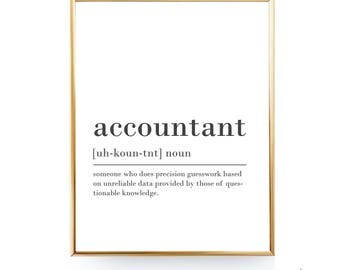 Accounting Quotes Glamorous Accountant  Etsy