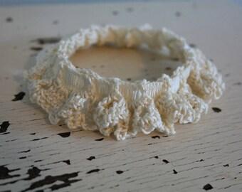 Ivory Bridal Garter-Large