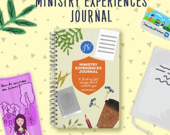 Jw Ministry Experiences Notebook | Return Visits Book | Jw Ministry Journal | Jehovah's Witnesses | JW | Jw Printables | Jw Notebook