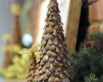 "Christmas Mantel Decorations   Fall, Winter, Holiday Fireplace Mantel Decor   Set of 2 Pine Cone Christmas Trees, 16"" & 13"" tall"