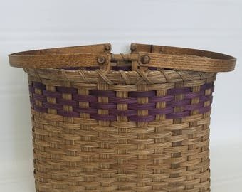 BASKET, handwoven, handmade, reed, storage basket, organization, farmhouse, primitive, gift, decor, household, rustic, ooak