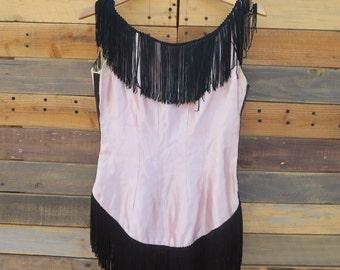0410 - 1920's - Pink Flapper Dress