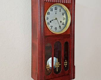 Restored Vintage Parlor Size Polaris Pendulum Wall Clock – Quartz (battery) Clockwork  - Professionally Serviced - With Warranty