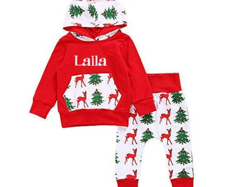 FREE SHIPPING! personalized christmas outfit!!