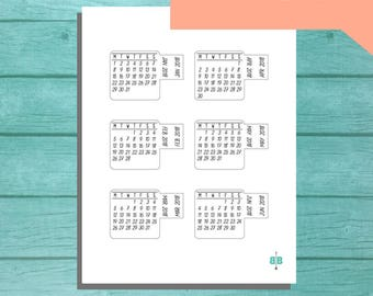 PRINTABLE 2018 Calendar Tab Stickers