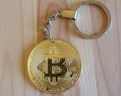 Bitcoin Keychain Charm Coin Collection Gift, Crypto Currency Keychain, Coin keychain