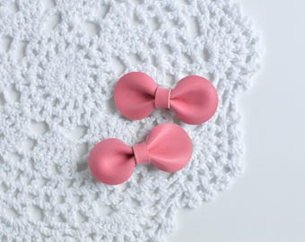 Baby Hair Clip, Baby Bows, Toddler Bow, Toddler Hair Clip, Leather Hair Clip, Girls Hair Clip, Baby Bow, Leather Clip, Pink Leather Bow