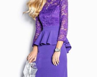 Lilac Cocktail Dress Pink Maxi dress Jersey Prom Dress long sleeve Party dress electric blue Evening dress Holiday dress Floor length dress