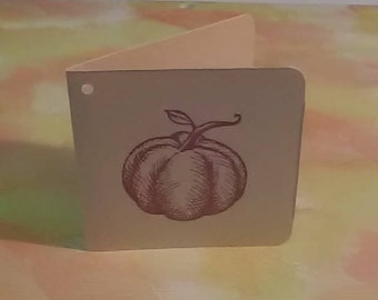 GIFT TAGS Fall 25 pcs. 2.5 inch square folded/blank/23sweets/die cut/wedding/rustic/party/gift/ tags/scrap booking/paper