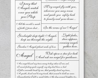 Angels - Scrapbooking/Card Making Quote Sheet **DIGITAL DOWNLOAD**