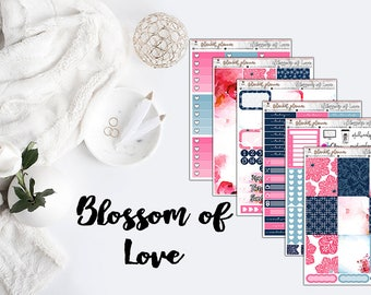 Blossom of Love Weekly Sticker Kit/Fits Erin Condren Vertical Life Planner and MAMBI Happy Planner