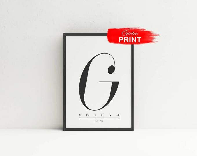 Featured listing image: Wedding Monogram Art Print