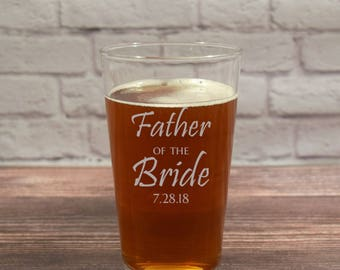 Father of the Bride Glass, Father of the Bride, Father Bride Beer, Father Bride Pint, Father Bride Glasses, Father of the Bride Beer Glass