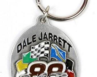 Dale Jarrett # 88 NASCAR Keychain & Keyring - Pewter