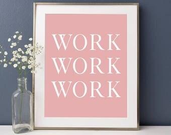 Pink office decor Etsy