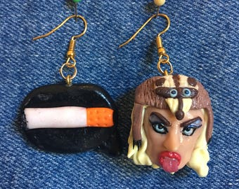 Katya zamolodchikova polymer clay earrings!