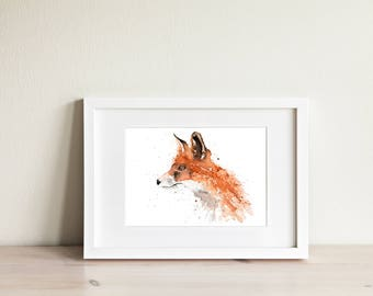 Fox No.2 - Signed Limited Edition Print of my original watercolour painting
