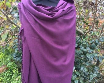 Aubergine/Purple Pashmina Shawl
