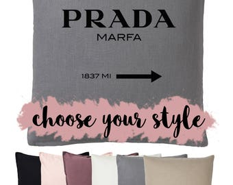 Prada Marfa cushion in linen or cotton - 50x50cm