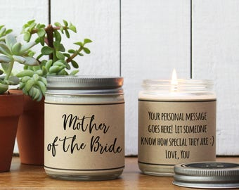 Mother of the Bride Gift | Mother of the Bride Candle Gift | Personalized Mother of the Bride Gift | Gift for Mother of the Bride