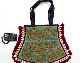 Handmade Ethnic Designer Tribal Banjara Patchwork Embroidered Hippy Fashionable Stylish Trendy Hippie Gypsy Boho Bohemian Fancy Bag G281