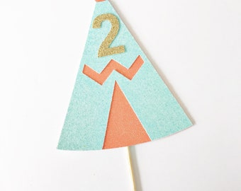 Wild One Cake Topper / Two Wild / Young Wild and Three / Tribal Cake Topper / Boho / Teepee Cake Topper / Custom Age Topper / Feather Topper