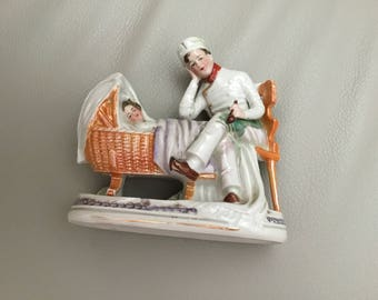 Decorative Antique Match Striker figure - German - numbered 4354