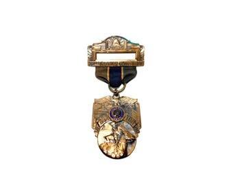 1940 American Legion Boston 22nd National Convention Ribbon Pin Medallion - L.G. Balfour Co.