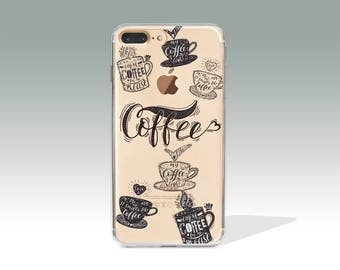 iPhone 7 Case Coffee iPhone 8 Plus Case Clear iPhone 8 Case iPhone 7 Plus Case Protective Birthday Gift Christmas Gift Anniversary Gift /393