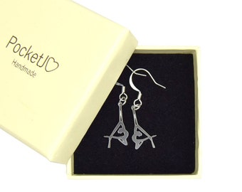 Aerial circus - aerialist - aerial silk - earrings - aerial silk earrings - circus jewellery