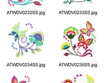 Jacobean-Butterflies-2 ( 10 Machine Embroidery Designs from ATW ) XYZ17E