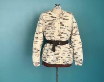 Chunky Cardigan, Boho Cardigan, Loose Cardigan, Fashion Cardigan, Wool Cardigan, Cardigan Sweater, Hand Knit Cardigan, Small Medium