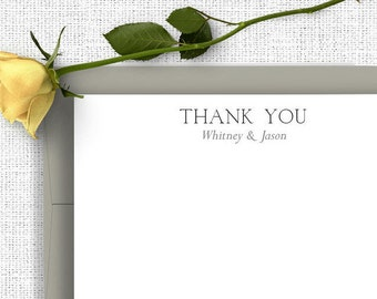 Wedding Thank You Notes, Personalized Wedding Stationery, Couples Stationary, Thank You Cards, Wedding Notes, Calligraphy Wedding, WS10