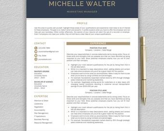 Modern Resume Template | Professional Resume Template Word | CV Template | Creative Resume Template | Modern CV Templates | Two Page Resume