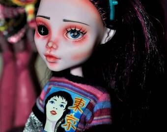 "Item Sold! DISPLAY ONLY! Horror Monster High Doll OOAK Draculaura Repaint ""Kitten"""