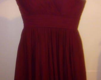 Burgundy Sweet Heart Strapless Gown Dress sz. 12