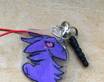 Daughter's Purple Dragon Cellphone Charm*