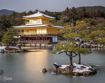 Japan Photography, Kinkakuji Temple, Travel Photography, Kyoto Photos, Wall Print Japan, Travel Photos, Japan Photo Prints, Japan Print