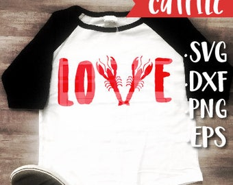 Boy Valentines Svg Cut File - Boy Crawfish Valentine Svg Cut File - Crawfish Boil Svg Cut File - Louisiana Svg Cut File - Mardi Gras Svg