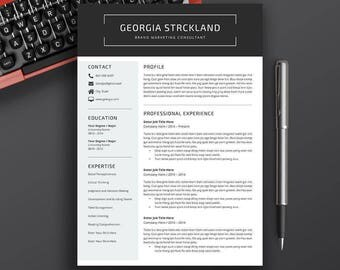 Professional Resume Template, CV Template, Cover Letter, Resume Word. Creative Resume, Modern Resume, CV Design, Instant Download, Georgia