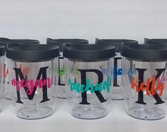 Customized Stemless Acrylic Wine Tumbler