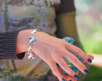 Flamenco Bracelet | Sterling Silver Natural Red Garnet Gemstone