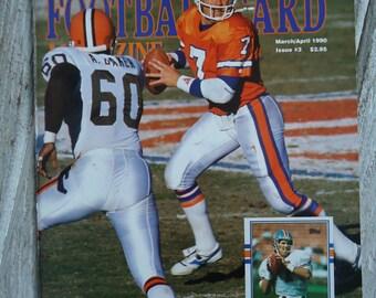 1990 John Elway Beckett Magazine - John Elway gift - Denver Broncos - Denver Broncos gift - Vintage NFL - Football decor - 1990 - John Elway