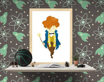 Newt Scamander printable mini poster. Fantastic Beasts and where to find them. Harry Potter lovers. Children room decor. Download and print.