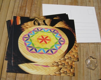 postcard of a flower of life gold, Indigo Creations. pleased to offer matching stationery