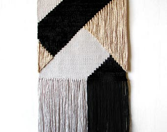 Woven wall hanging | Wall tapestry | Minimal weaving