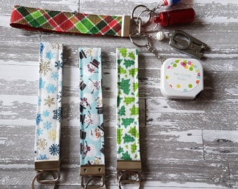 Winter Themed Key Fob -You Choose -Notion Holder -Notions -Crochet -Knit Accessories -Key Chain -Notion Pouch -Keyfob -Wristlet