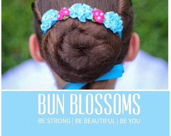 "Bun Blossoms ""Dancing For You"" Two Toned Bun Wrap"